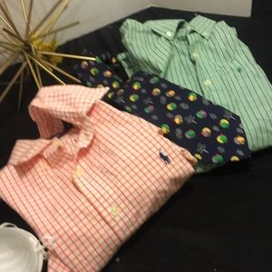 Polo 2mens shirts and tie